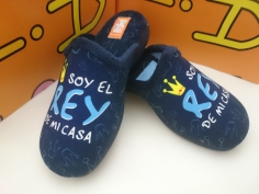 Zapatilla Cabrera Invierno Mod 8028 Azul
