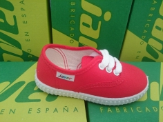 Zapatilla Lona Unisex Javer Mod 60 Rojo