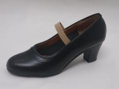 Zapato Flamenco Profesional Goma Negro