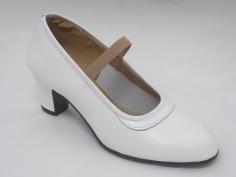 Zapato Flamenco Profesional Blanco