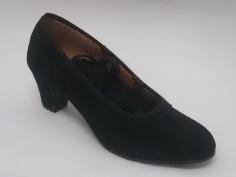 Zapato Flamenco Profesional Negro Ante