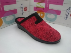Zapatilla Garzón Invierno Mod 1725.241 rojo