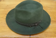 Sombrero Paño Verde Ala Ancha
