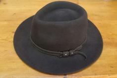 Sombrero Paño Marrón Ala Ancha