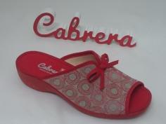 Zapatilla Cabrera Señora Mod 5214 Rojo