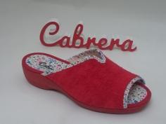 Zapatilla Cabrera Señora Mod 5172 Rojo